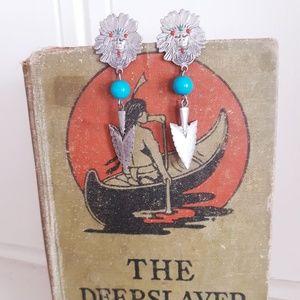 Vintage Jewelry - Vintage Native American Style Post Earrings